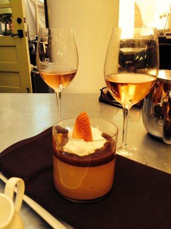Thomas Hill Organics: Carmelita creme with Rose. Delicious desert