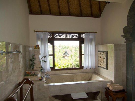 Alam Shanti: Soaker tub - downside no shower for tall people