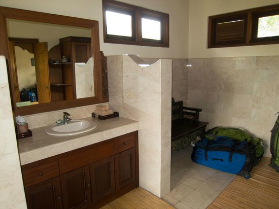 Alam Shanti: Bathroom - a bit basic but functional