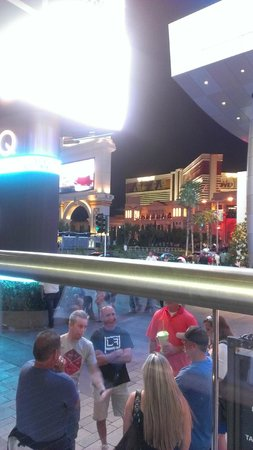 The Mirage Hotel & Casino: View of the hotel from Margaritaville