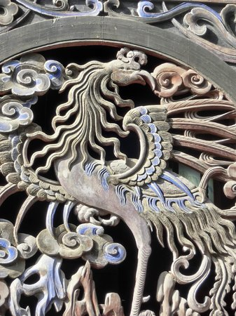 Fuxi Temple: Dragon on the plaque