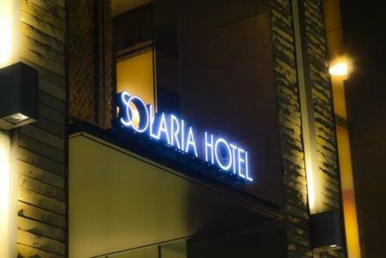 Solaria nishitetsu hotel Ginza : 正面玄関 看板