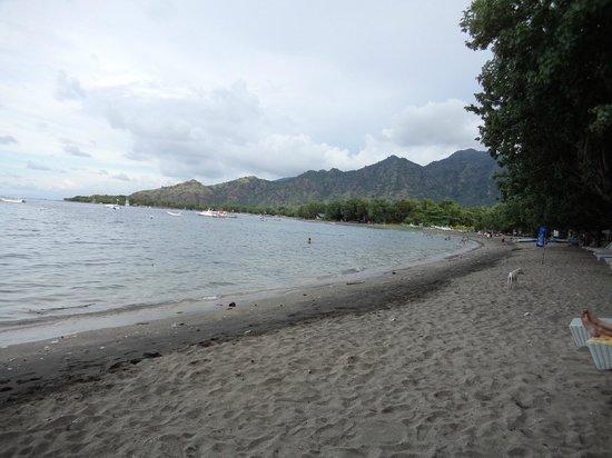 Taman Sari Bali Resort & Spa : La plage du Taman Sari remplie de déchets