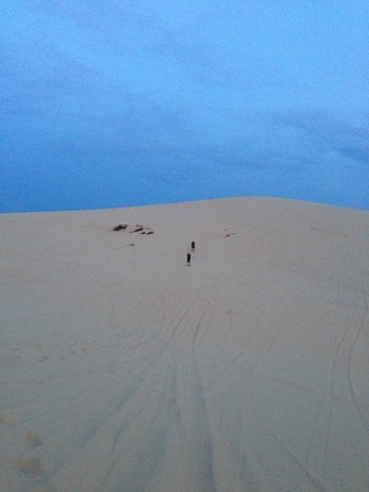 White Sand Dunes : It was fun climbing up the hills too.......