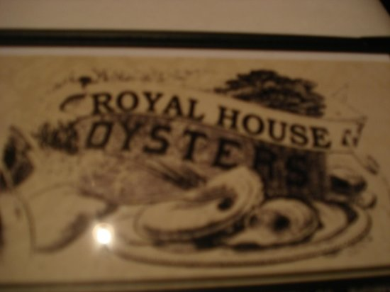 Front Of Menu Picture Of Royal House New Orleans