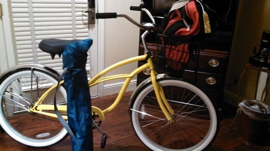 Buzz Nola Bike Tours and Rentals: Buzz Nola Cruiser, ready for Jazz Fest