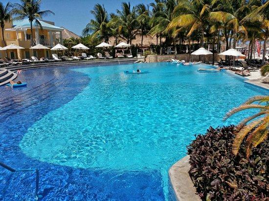 Royal Hideaway Playacar: One of Two Main Pools