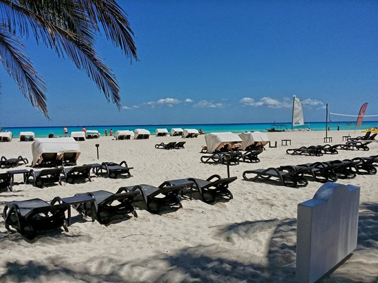 Royal Hideaway Playacar: Beach Showing Canopy Chairs