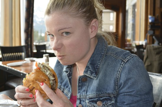 The Iron Goat Pub and Grill : Bison Burger not for sharing