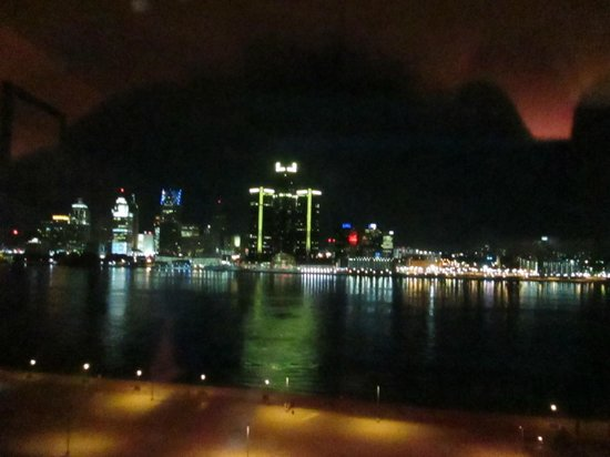 Night View from Room Caesars Windsor
