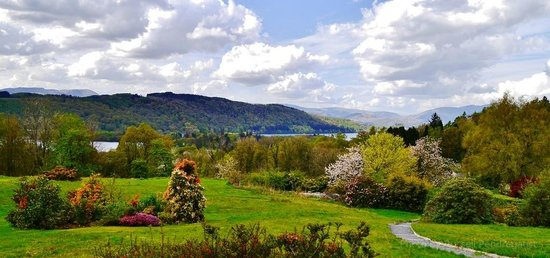 Linthwaite House: great views from the terrace