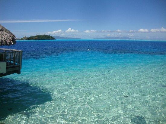 Maitai Polynesia Bora Bora: Vue depuis le bungalow sur pilotis