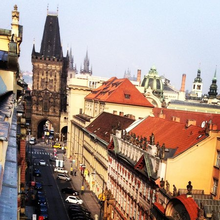 The Grand Mark Prague: From our terrace at the Kempinski, Prague