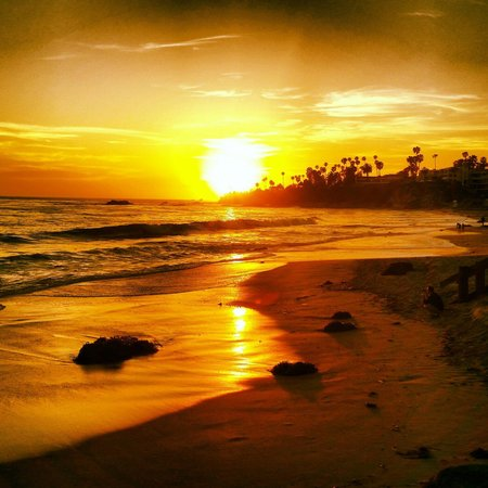 Hotel Laguna: Beautiful sunset!