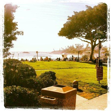 Hotel Laguna : The Main beach park view