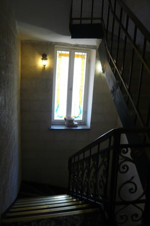 Zion Hotel: лестница - с романтическим элементом