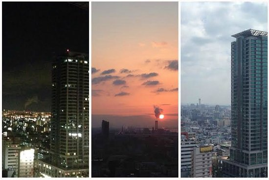 ANA Crowne Plaza Kobe: night/morning/day