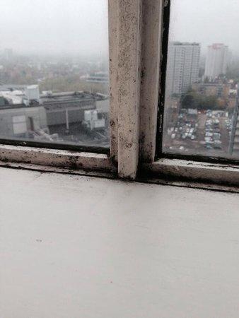 Hilton London Metropole: Mouldy windows