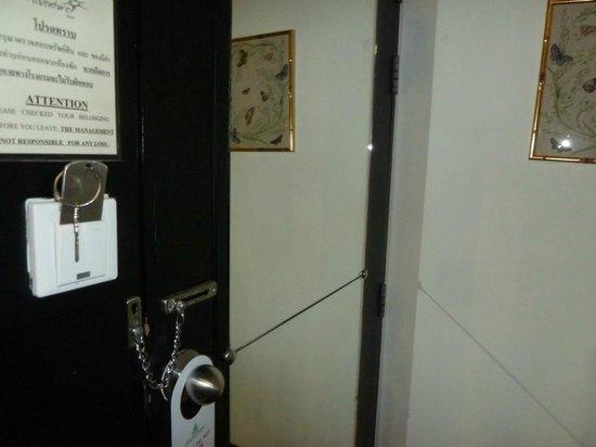 The Adventure Hotel: Room door