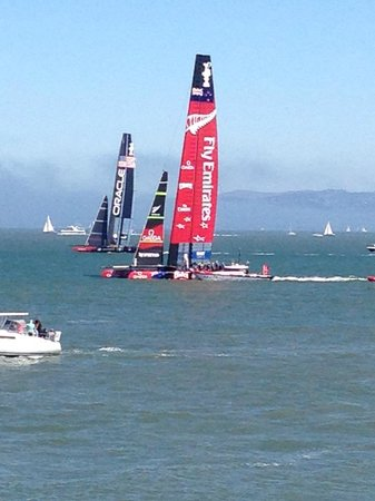 SS Jeremiah O'Brien : America's Cup Race as seen from Jeremiah O'Brien
