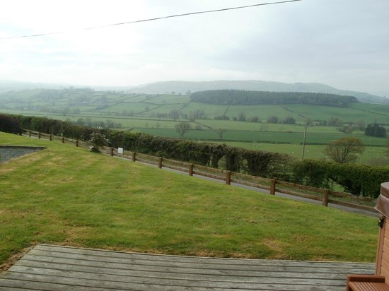 Trewythen Lodges: view from Lodge