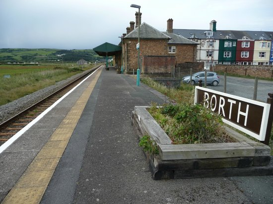 Borth Station Museum: Platform Sign