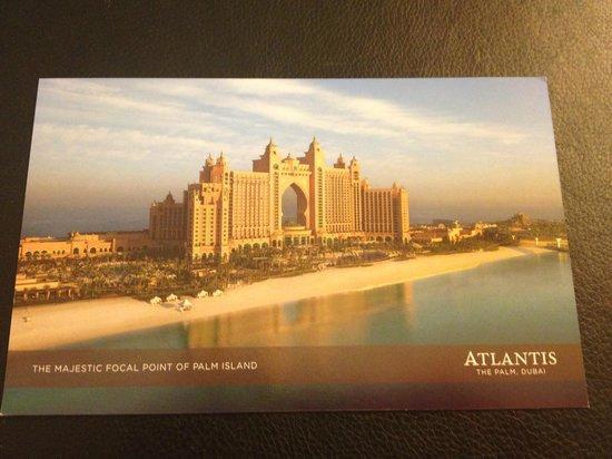 Atlantis, The Palm: postcard