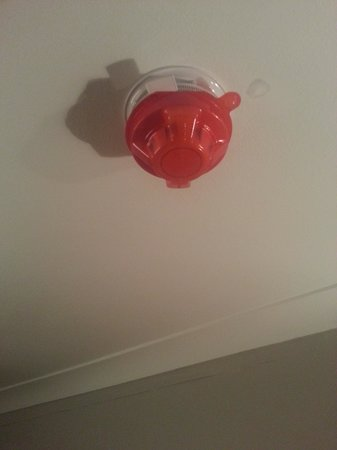 Muthu Clumber Park & Hotel and Spa: Smoke Alarm with a cover on ???