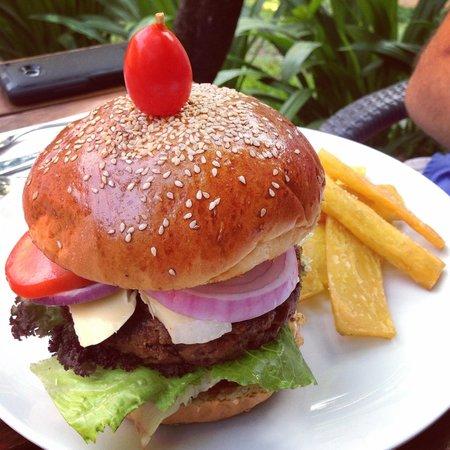 Marum: Water Buffalo, Bacon, and Brie Burger