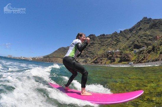 Green Wave Surf School: Gaëlle, erstes mal surfen!!!!