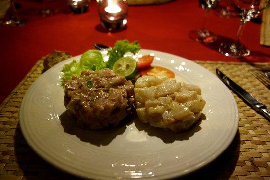 Domaine de la Paix: les tartares de thon et wahoo