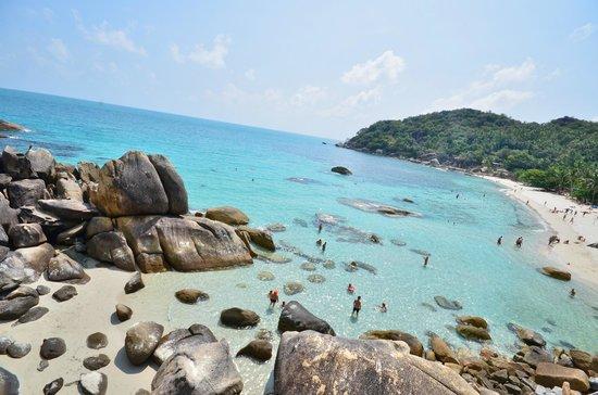 Thong Takhian Beach (Silver Beach) : vue plage hauteur