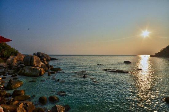 Thong Takhian Beach (Silver Beach) : coucher soleil
