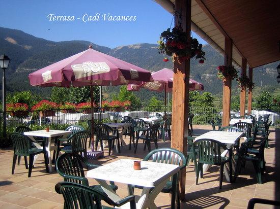 Camping Cadi Vacances: Terraza Camping.