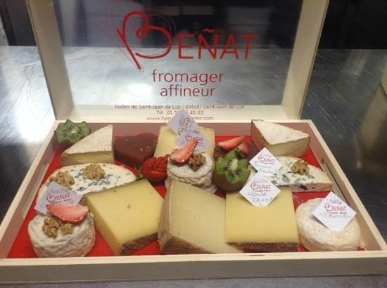 le plateau de fromages du fournisseur de chez kako