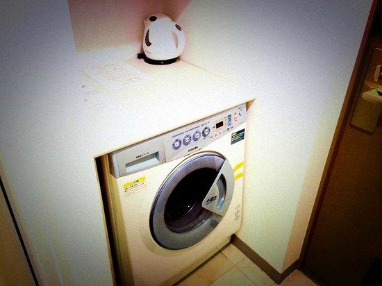 Tokyu Stay Yotsuya : 洗濯機も室内装備