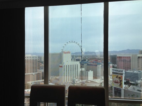 The Mirage Hotel & Casino: Mesh on the window view was great picture not so great