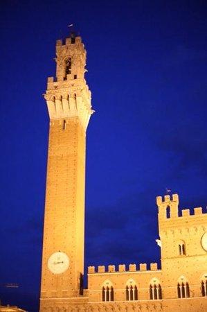 Mangia Tower: at night