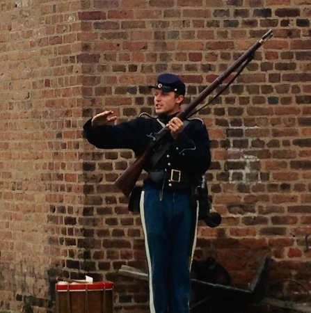 Old Fort Jackson: This guy was awesome