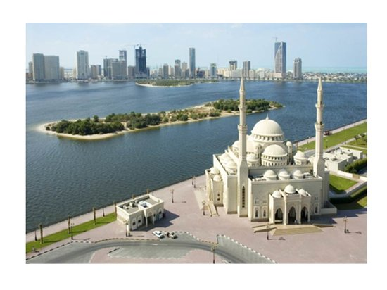 Al Noor Mosque Khaled Lagoon Sharjah