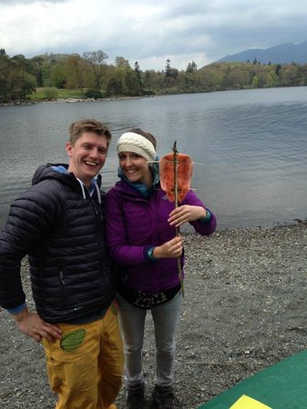 Keswick Canoe and Bushcraft: Trout ready for the fire