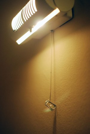 Adonis Hotel: creative lamp switch
