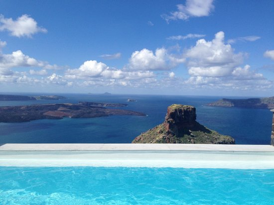 Tholos Resort: View from the infinity pool