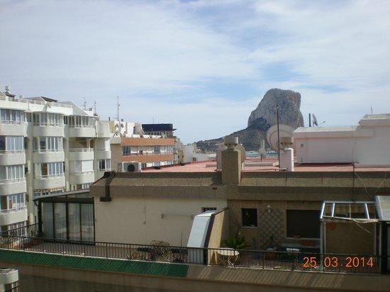 Apartamentos del Mar : Blick vom Balkon Richtung Ifach