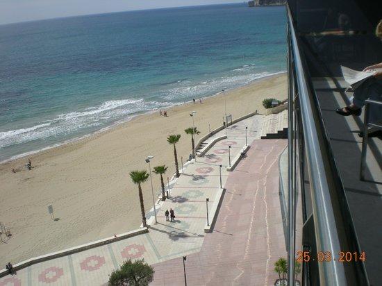 Apartamentos del Mar : Blick vom Balkon auf das Meer