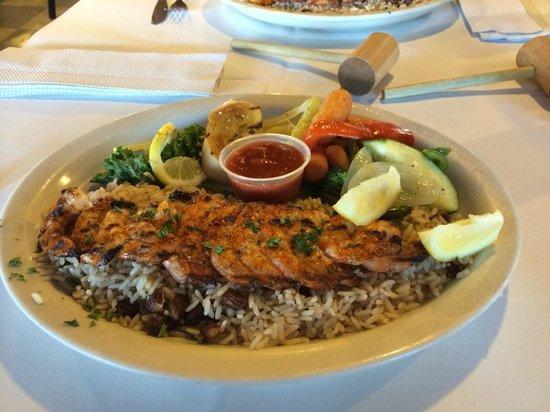 Rustic Inn Crabhouse : The Grilled Shrimp Platter