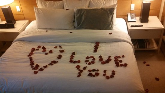 21c Museum Hotel Cincinnati: I love you rose petals