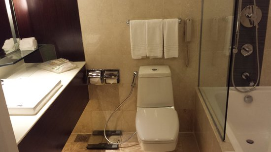 Holiday Inn Singapore Orchard City Centre: Shiny, spotless and stylish bathroom