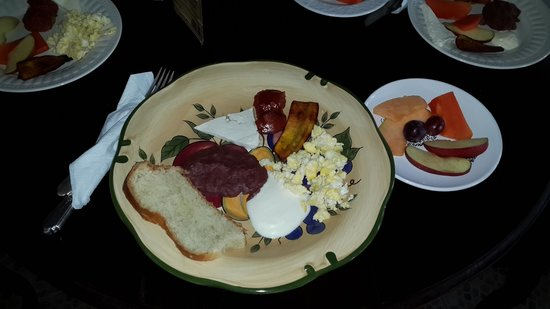 Hotel Boutique Posada Las Iguanas: Desayuno