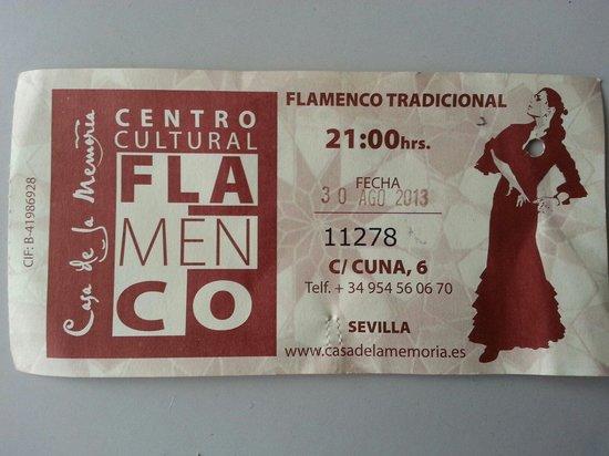 Casa de la Memoria: Il ticket d'ingresso.